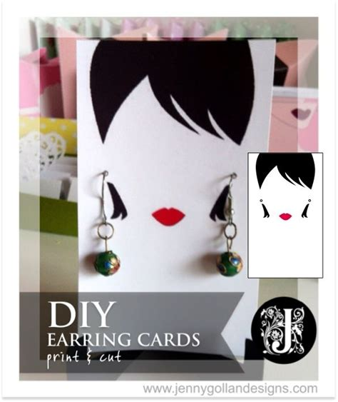 earring card template downloads unique earring card template print and cut