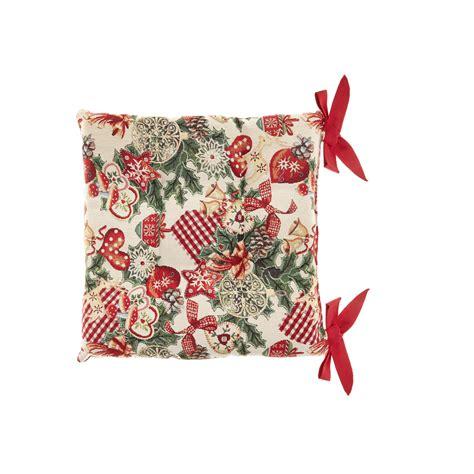 cuscini natalizi cuscino sedia gobelin ricami natalizi coincasa