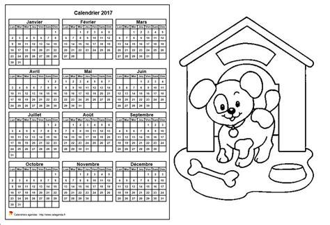 Calendrier 2017 Annuel Calendrier 2017 224 Colorier Annuel Format Paysage Pour