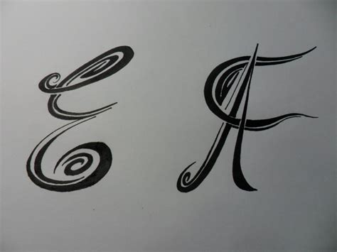 imagenes para dibujar tribales letras tribales e y f bases elementales para dibujar