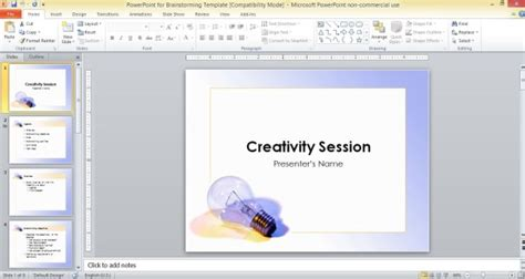 Powerpoint For Brainstorming Template Brainstorming Template Powerpoint