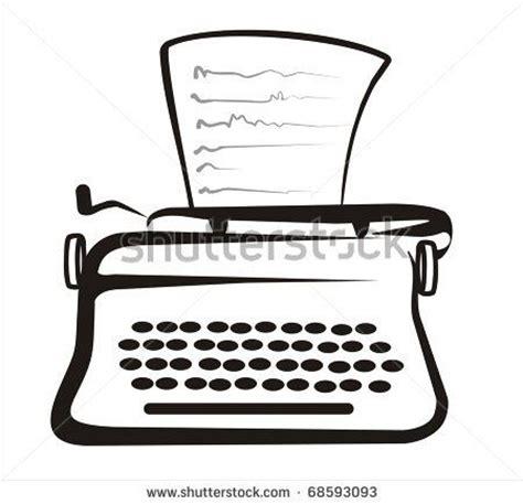 Typewriter Drawing Easy simple drawing of typewriter simple drawings