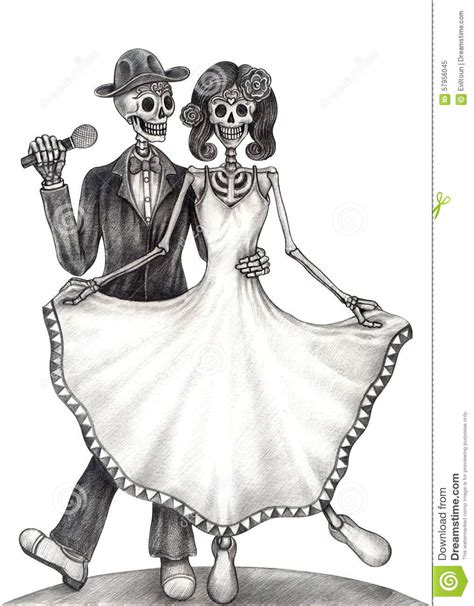 Dead Wedding Animation by Skull Wedding Day Of The Dead Stock Illustration
