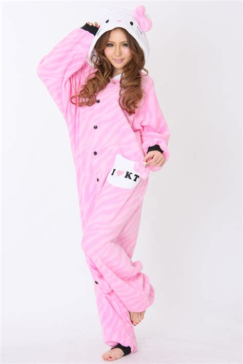 zebra printed pink hello pajama animal onesie kigurumi pajamas more pink