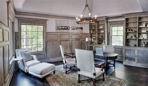 Office Wainscoting Ideas by Splashy Paneling Fashion Other Metro Traditional Home