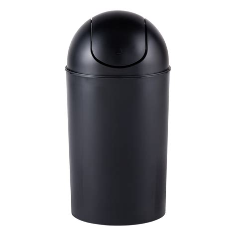 swing trash can umbra black gal swing lid grand trash can the container