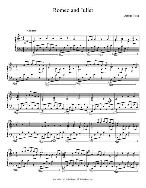 theme to romeo and juliet lyrics romeo and juliet piano solo piano sheet music