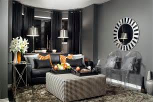 black and silver living room chic shadows black homeportfolio