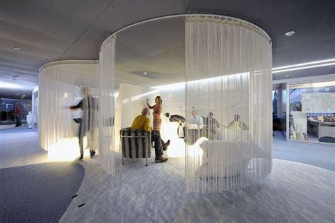 enclosed circular meeting rooms   growing trend turnstone work stuff google office