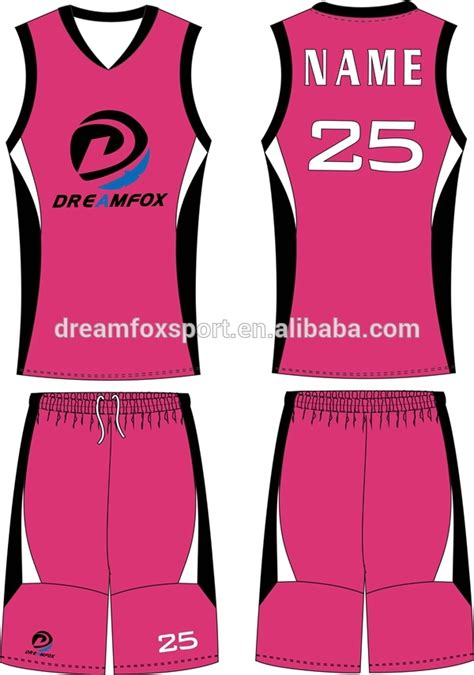 jersey design color pink pink basketball jersey for girls pairs and spares