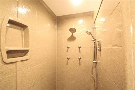Fiber Glass Shower by The Exciting New Look Of Shower Wall Panels