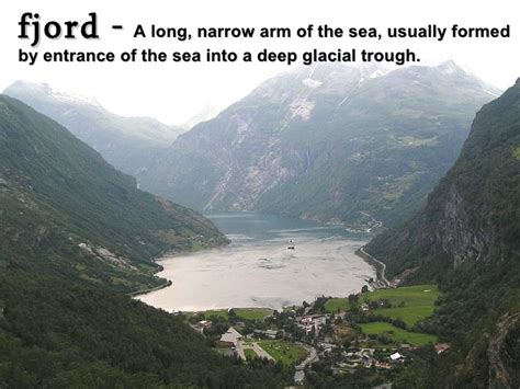 fjord definition geography world geography vocabulary illustrated