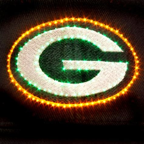 green bay packers light up hat nfl green bay packers led light up logo adjustable hat
