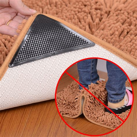 Rug Grips by 4x Rug Carpet Mat Grippers Anti Slip Anti Skid Reusable