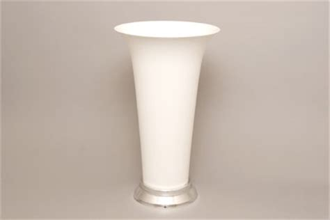 Plastic Trumpet Vases by Vo 940 Plastic Trumpet Vase Black Or White Of 12