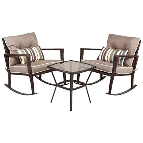 Patio Coffee Table Set Tangkula 3 Pcs Chat Set Patio Outdoor Rocking Chairs With Coffee Table Set Green Ankles