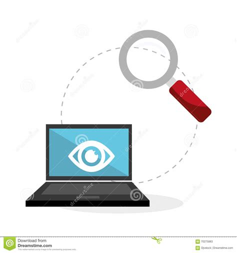flat illustration about security system stock vector