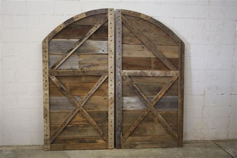 Arched Barn Door Buy Hand Crafted Arched Top Barn Doors Made To Order From