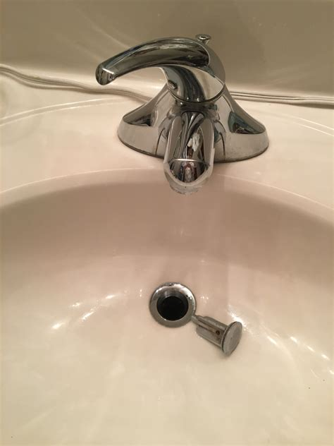 sink shroom quick fix for broken bathroom sink stopper and