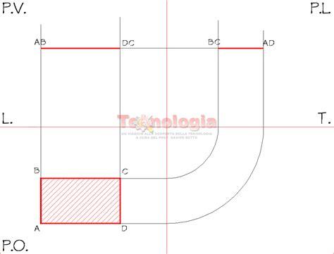 uni pv lettere proiezione ortogonale di un rettangolo educazionetecnica