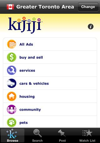 gumtree free classified ads from the 1 classifieds site kijiji iphone app homescreen ebayink flickr