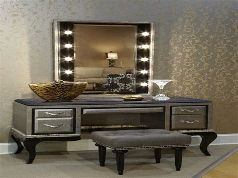 bedroom vanity sets with lighted mirror modern vanity set with lighted mirror doherty house
