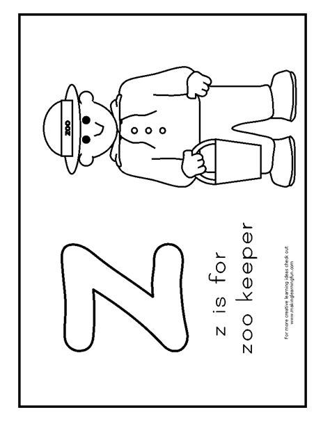 coloring page of zookeeper free coloring pages of zookeeper
