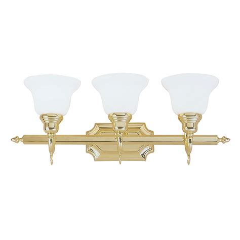 french bathroom light fixtures livex lighting french regency polished brass three light