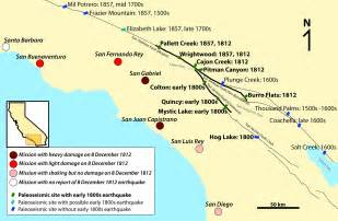map of san andreas fault in southern california fault earthquake could devastate southern