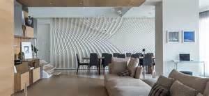 Dining Room Ideas With Feature Wall Sculptural Feature Wall In Dining Room Fields Studio