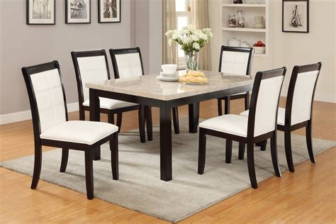marble dining room set real marble top dining table by poundex f2296 genesis furniture