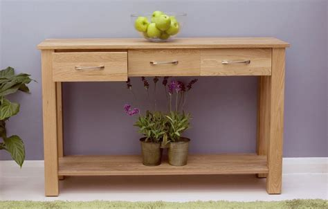 Solid Oak Console Table With Drawers by Solid Oak Console Table With Drawers Mobel Oak