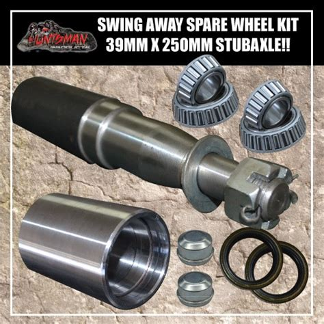 swing out tire carrier kit swing away spare wheel bracket kit 39x250mm stub axle