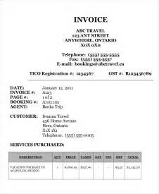 agency template travel agency invoice template 14 free word pdf