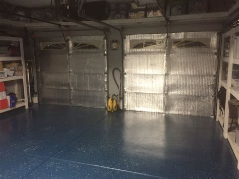Garage Door Radiant Barrier Radiant Barrier On Garage Doors Blocks Heat From Entering