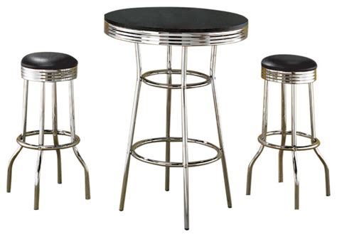 Indoor Bistro Table Set 50 S Retro Soda Bar Table Set By Coaster Midcentury Indoor Pub And Bistro Sets By