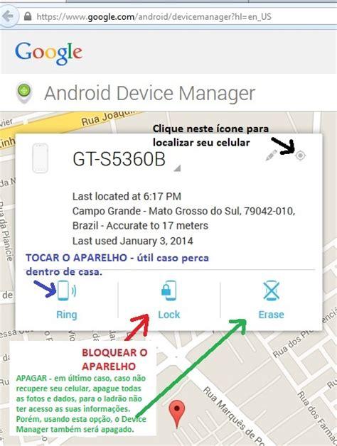 android device manager login como localizar um celular perdido ou roubado quero mais