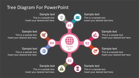 Powerpoint Diagram Templates Free by Free Tree Nodes Diagram Powerpoint Template