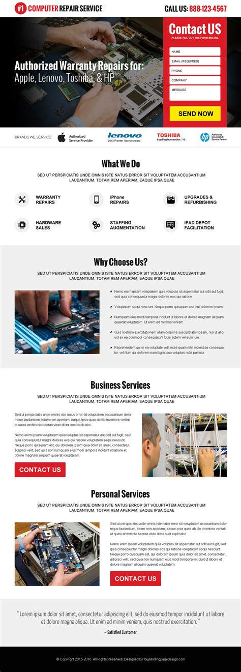 Design My Home Free Online by Computer Repair Service Landing Page 01 Computer Repair