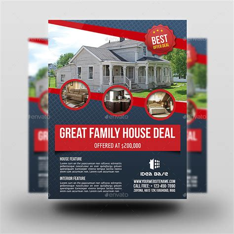 house flyer template real estate flyer template vol 12 by owpictures graphicriver