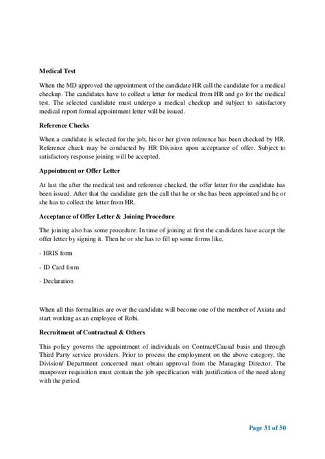 appointment letter format for team leader the management functions of robi axiata ltd