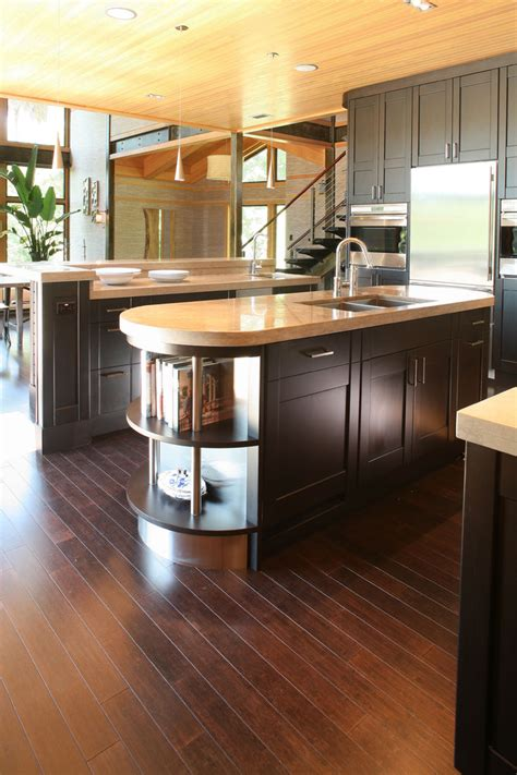 bamboo flooring colors Kitchen Contemporary with bamboo