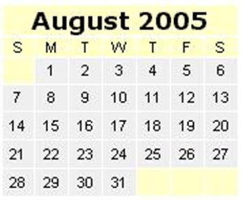 August 2005 Calendar Fein Universe