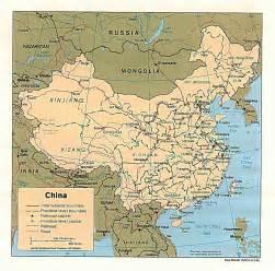 China Map by Gabriel Abbott Memorial 4th Grade