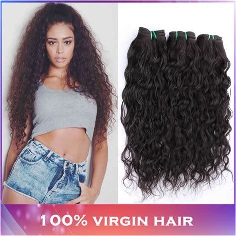 weave hair shows 2015 3pcs lot water wave 5a brazilian virgin hair natural wavy