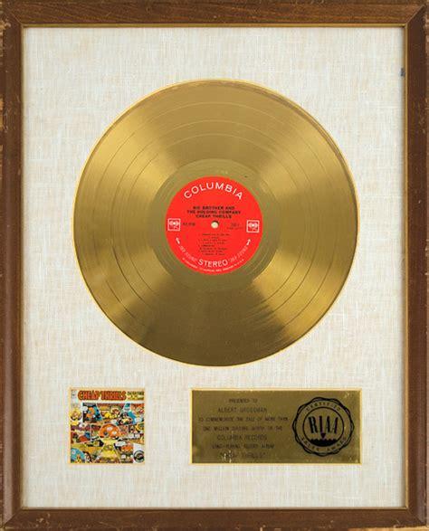 lot detail janis joplinbig brother   holding company riaa gold record award  cheap
