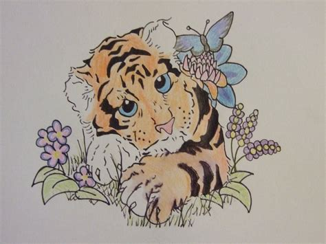 cute tiger tattoo designs tiger by cookiebutterworth26 on deviantart