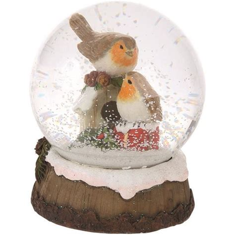 traditional christmas snowglobes traditional robin snow globe