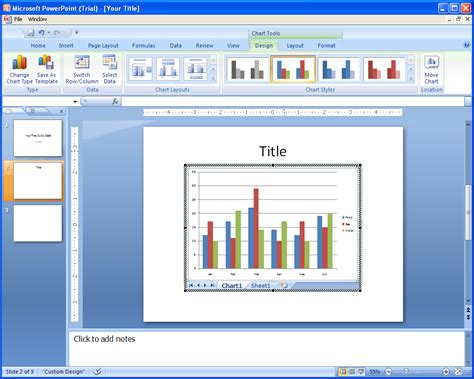tutorial for powerpoint excel and word insert a new excel chart collaboration word excel