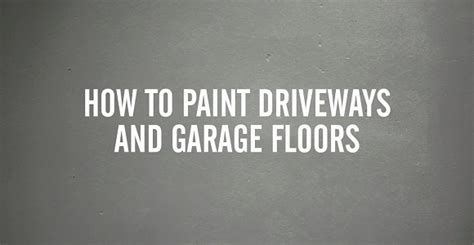 How To Paint Your Garage Floor by How To Diy